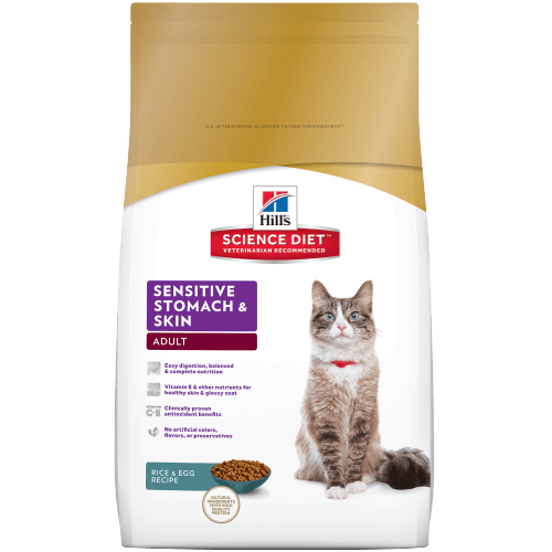 Hill S Science Diet Adult Sensitive Stomach Amp Skin Cat